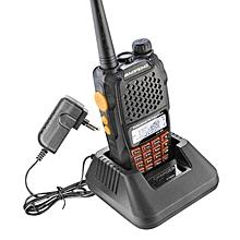BAOFENG-UV6R Walkie Talkie 5W UHF&VHF Dual Band CB Radio FM Transceiver For Hunting - EU Plug