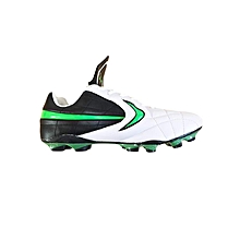 960-2 - Football Boots - White & Green
