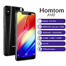 Homtom H10 4G Phablet 5.85 inch 4GB RAM 64GB ROM MTK6750T Octa Core - BLACK