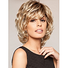 Short Curly Wigs Natural Ombre Blonde Wigs For Women