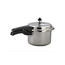 Premium Aluminium 5.0 Litre Pressure Cooker - Silver