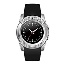 """V8 1.22"""" Round Screen MTK6261 IP65 Android Bluetooth Smart Watch With Sim card Toolkit - Multicolored"""