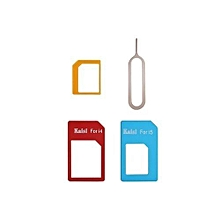 4 In 1 Sim Card Converter Adapter Kit Sim Card Slot Set Nano To Micro/Standard For IPhone 4/5 + Sim Tray Opener