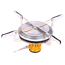 Camping Gas Burner Mini Stove Head-SILVER WHITE