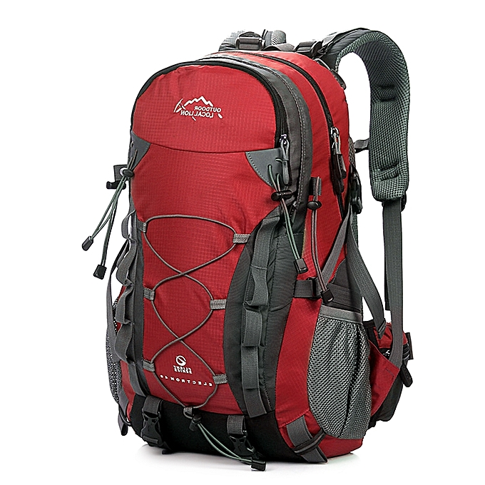be71575e4d1 ... 40L Outdoor Hiking Backpack Waterproof Men   Women Daypack Professional Traveling  Camping Mountaineering Climbing Bag ...