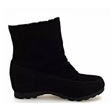 4078d7d0bba huskspo Women Fashion Ankle Boots Flats Casual Shoes Warm Suede Shoes  Comfortable BK 39