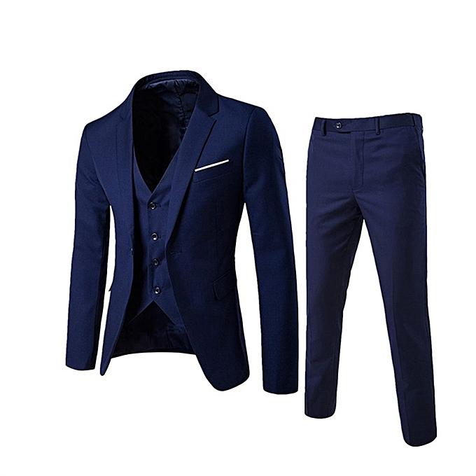 Buy Fashion Korean men's suit 3 sets jacket business ...