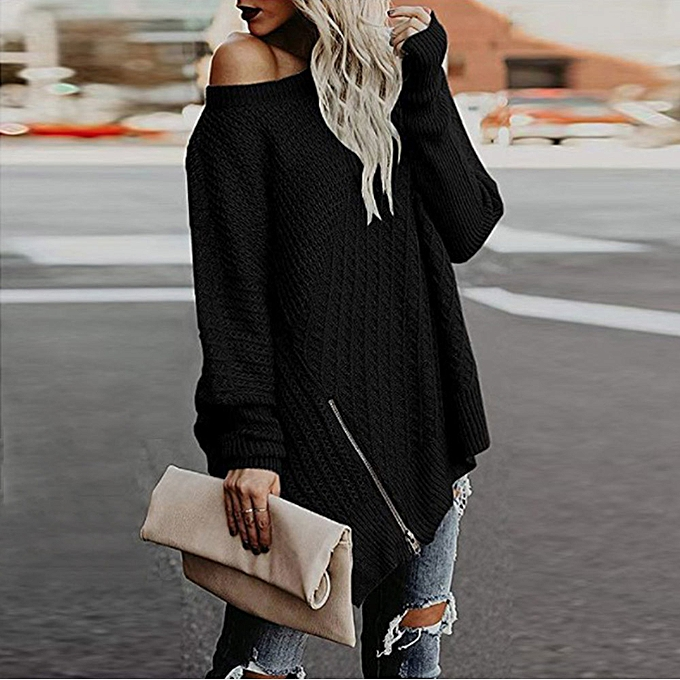 301966d9895 duanxinyv Women Casual Solid Long Sleeve Pullover Loose Sweater Jumper Tops  Knitwear