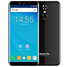 "OUKITEL C8 5.5"" 2GB RAM + 16GB ROM 2.5D Arc Screen Android 7.0 Fingerprint Scanner - BLACK"