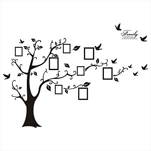 buy generic 60 90cm huge family tree photo frame wall stickers black