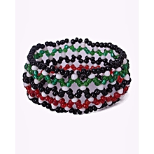 Bracelet Elastic African Beaded Kenyan Flag Colors Unisex Traditional Wares Office And Casual Handmade Generic