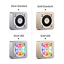 ( Colour:Gold LED Version)NIQIN A9 Bluetooth Speaker Wireless Mini Stereo Music Box Subwoofer AUX Noise Cancelling Handsfree Mp3 Player LED Flashing