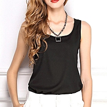 ZANZEA Women Vest Tank Sleeveless Blouse Sexy Casual Chiffon Top Black