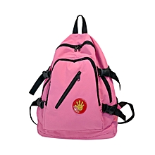 dc32f9265280 Fashion singedanGirl Nylon School Bag Pure Color Backpack Satchel Women  Trave Shoulder Bag -Pink - Pink