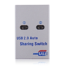 2 Ports HUB USB 2.0 Auto Sharing Switch With CD for Printer Scanner Office