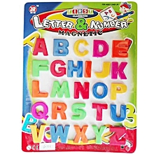 Colourful Magnetic Letters - Stick on Fridge Magnetic Alphabets for Children Learning (Capital letters Big Size)