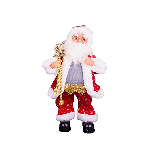 Santa Claus Musical Christmas Moving Figure Animated Ornament