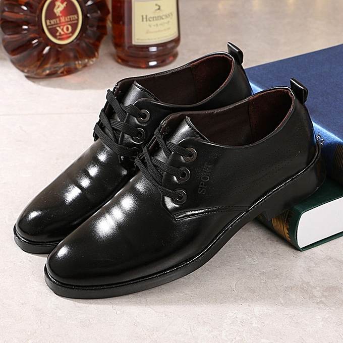 Generic New Stylish Men Youth Suits Leather Shoes Interview Work