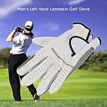 Leather Golf Glove Men's Left Hand Soft Breathable Lambskin Golf Gloves Golf Accessories #23