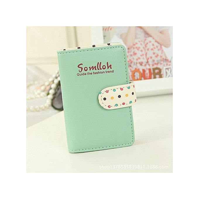8911080ae79 Women Candy Color Top Leather Bank Credit Cards Large Capacity Card Wallet  GN