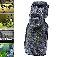 Easter Island Stone Stone Resin Crafts Antique Roman Portrait-Army Gree