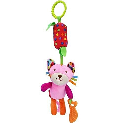 Baby Toys Clip On Wind Chime Teether Plush Toy Stroller Crib Car Seat Hanging Rattle