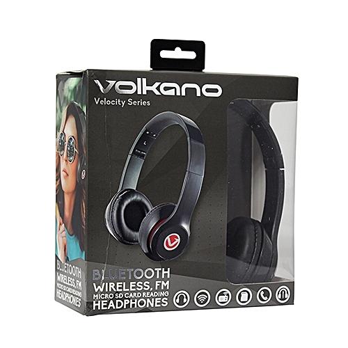 Velocity Series Bluetooth Headphones - Black