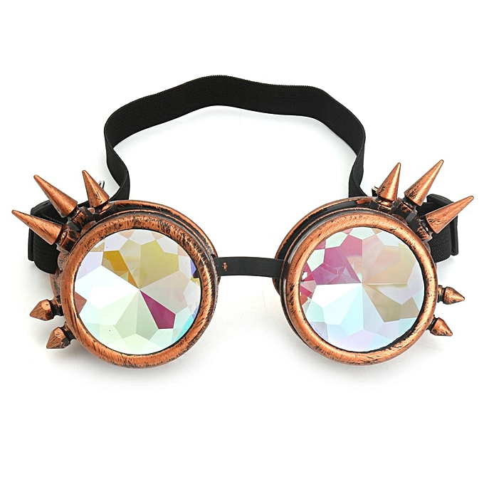 c6e6ce284f Rave Kaleidoscope Rainbow Glasses Prism Diffraction Crystal Lenses for  Steampunk
