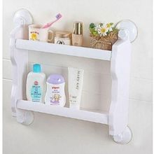 2 layer bathroom organiser shampoo holder white