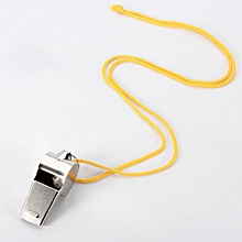 Metal Referee Whistle School Soccer Football Sport Blowing Dog Trainning+ String-