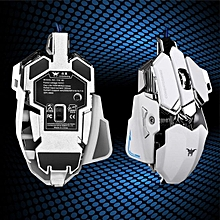 4800DPI Optical USB Wired Gaming Mouse Mice For Windows Mac OS PC WH