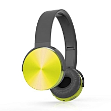 Wireless Bluetooth Stereo Earphone Headphone V4.1 Headsets With Mic For Calls And Music For IPhone Mobile Phone PC Yellow