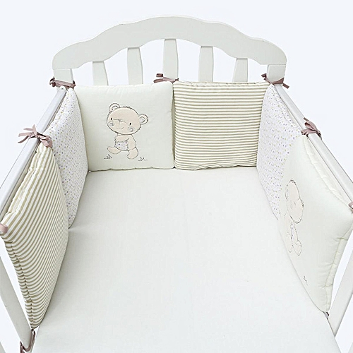 Bedding Sets Mother & Kids Cotton Baby Crib Liner Baby Crib Bumper Baby Bed Around Monkey Bedding Set 6 Pcs Safe
