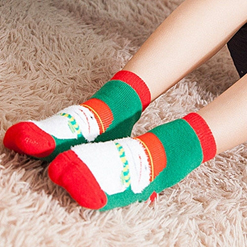 Soft Christmas Gift Child Unisex Cartoon Print Terry Thickening Towel Socks