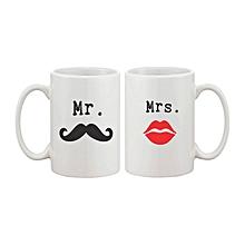 White mr and mrs  Mug