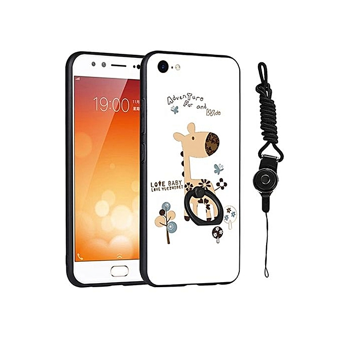sale retailer aa234 fd692 3D Relief Painting Style Protection Shell With Fashion Lanyard Finger Ring  Phone Case For Vivo X9 Plus 5.88 Inch