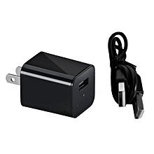 GB MC45 WIFI Smart Charger Hidden Camera USB Output AC Adapter Security Monitor-black