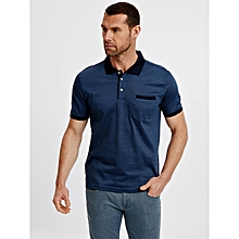 Blue Fashionable Standard Short Sleeve T-Shirt