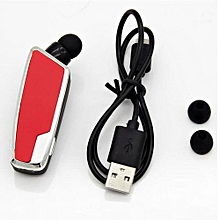 Headsets, Bluetooth Earphones FZX-1108 with Retractable Cable Business with mic Headphones (Red)