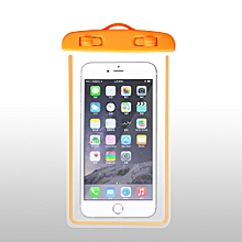 Outdoor Waterproof Pouch Swimming Beach Dry Bag Case Cover Holder for Cell Phone-Orange