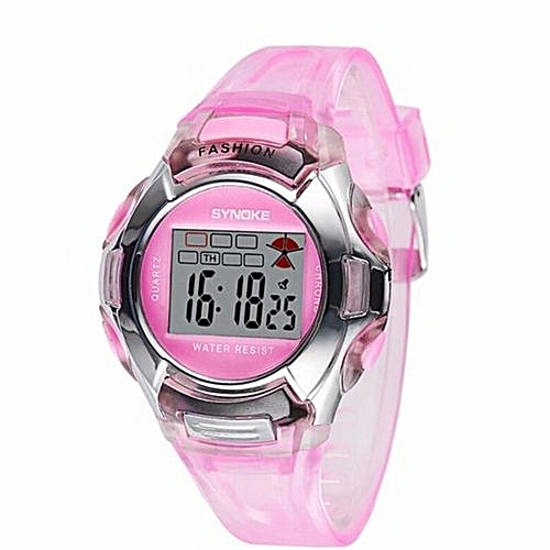 a910b9853 Synoke Children LED Digital Watch Girls Wrist Watch Kids Watches Boys Clock  Child Sport Digital-watch For Girl Boy Surprise Gift(Pink)
