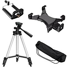 "Camera Tripod Stand Holder Mount Bracket 1/4"" Thread for Phone Tablet 7-10.1"""
