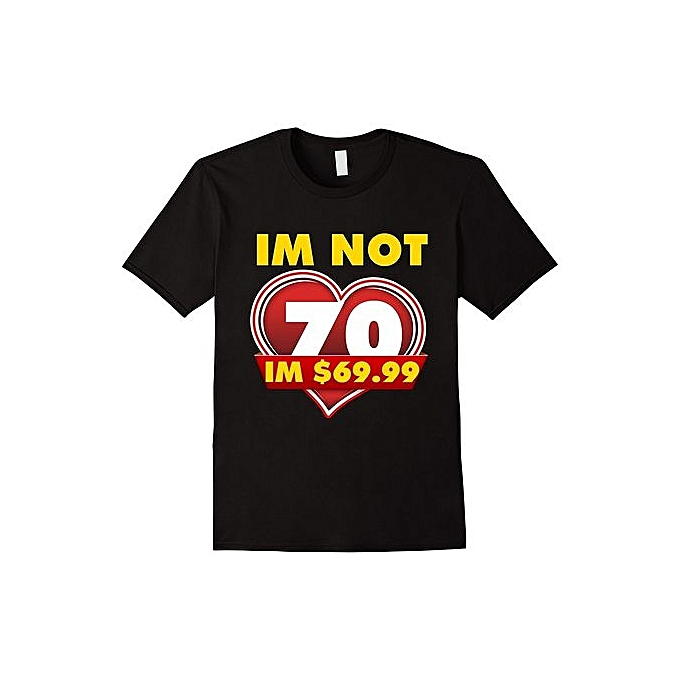Funny 70th Birthday T Shirt Fashion Short Sleeved Shirts Summer Tee For Men