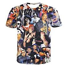 Hequeen Women Men Fashion 3D T Shirt Tupac Shakur 2Pac T-shirt Hip Hop Rap Tees Camisetas Tops Shirts