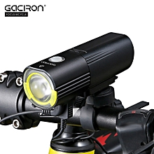 V9S-1000 USB Rechargeable Waterproof Bike Cycling Light Bicycle Front Flashlight with Remote Switch - Black