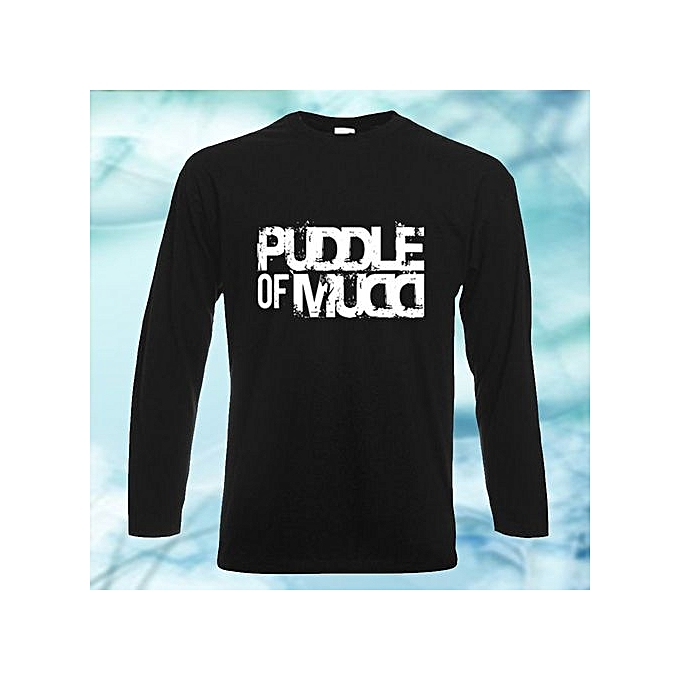 5bd8bdd472d6 Puddle Of Mudd Fashion Men Letter Printed Long Sleeve Cotton T-Shirt Loose  Fit Comfortable