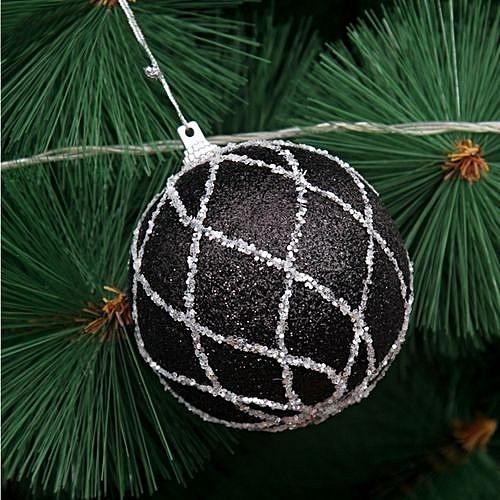 Universal Christmas Tree Rhinestone Black Baubles Glitter Ball