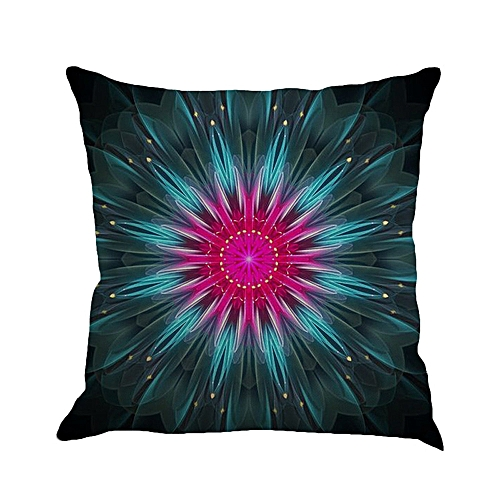 Africanmall Geometry Painting Linen Cushion Cover Throw Pillow Case Sofa Home Decor C Multicolor