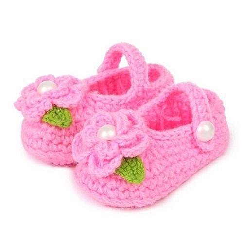 da3ebc918 YiQu bluerdream-Crib Crochet Casual Baby Girls Handmade Knit Sock ...