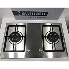 Appliance 70cm - 2 Burner Built-in Gas Cooker Hob - Silver
